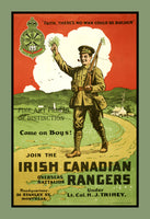 World War I poster of Join the Canadian Irish Rangers Art Print