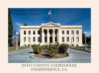 Fine Art Poster of the Inyo County Courthouse in Independence, California