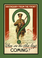World War I Poster When are the Other Boys Coming Art Print