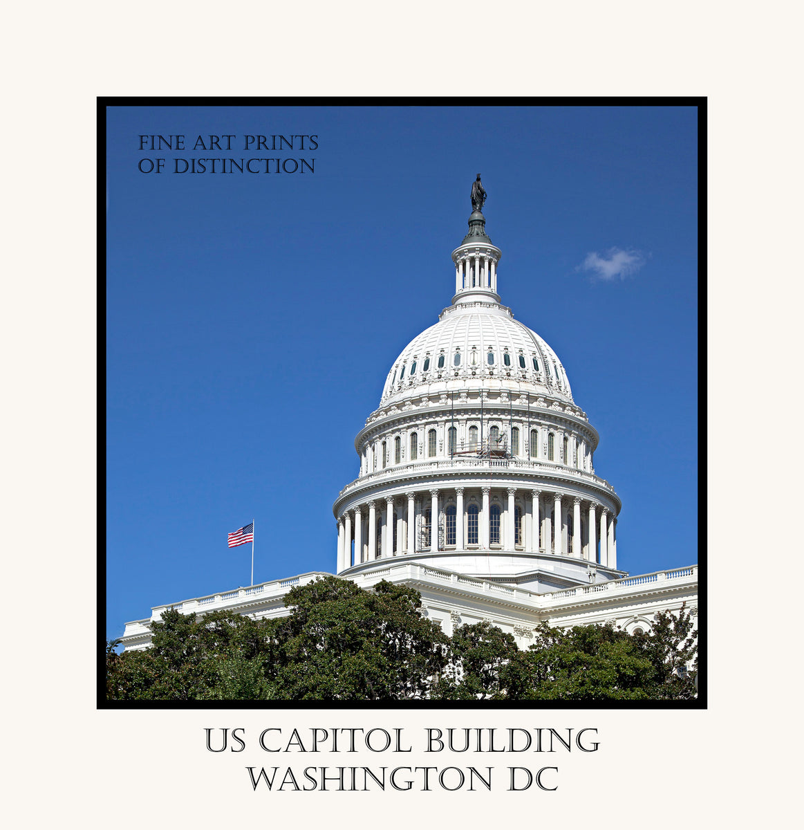 Dome of the United States Capitol Building fine art poster