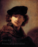 Self Portrait with Velvet Beret by Rembrandt