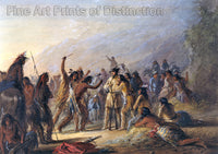 Attack by the Crow Indians by Alfred Jacob Miller