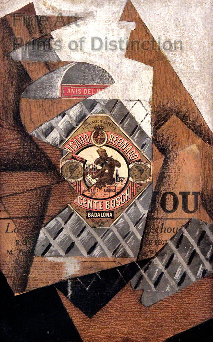 Bottle of Anis del Mono by Juan Gris