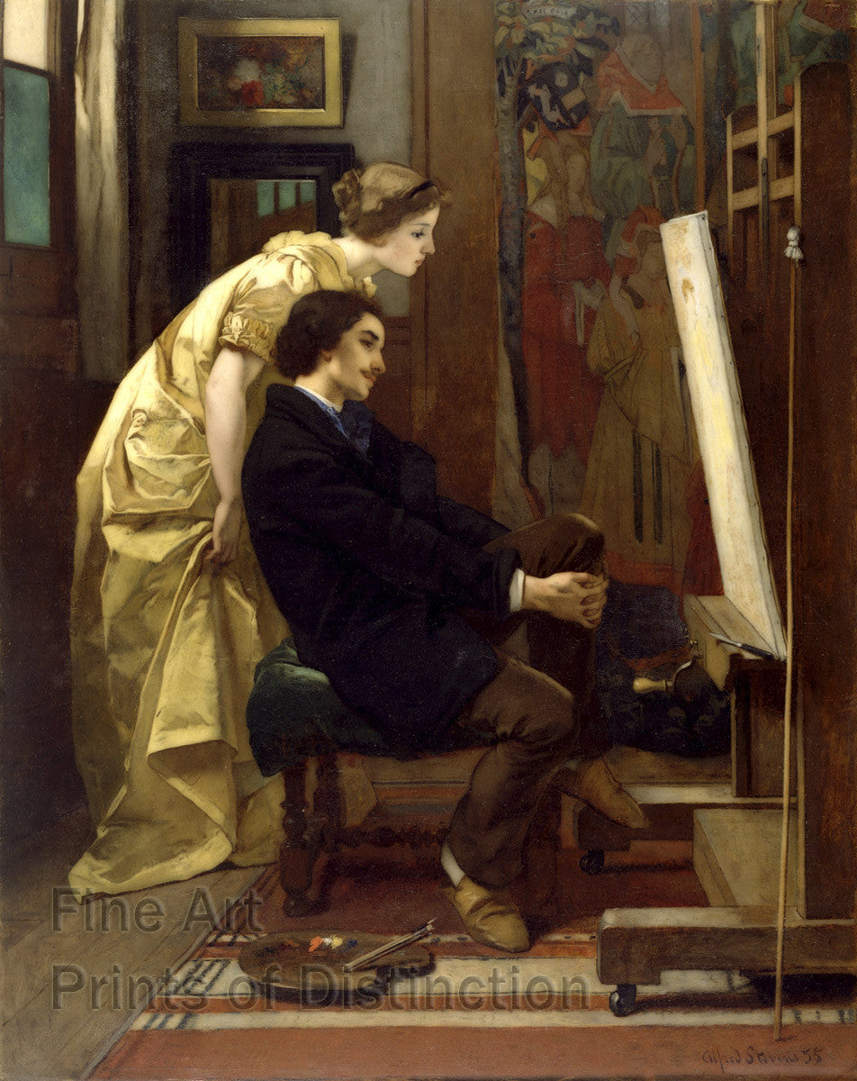 The Painter and his Model by Alfred Stevens