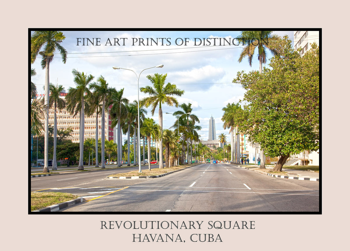 Revolutionary Square in Havana, Cuba Premium Poster