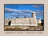 Morro Castle with Canon in Havana, Cuba Premium Poster