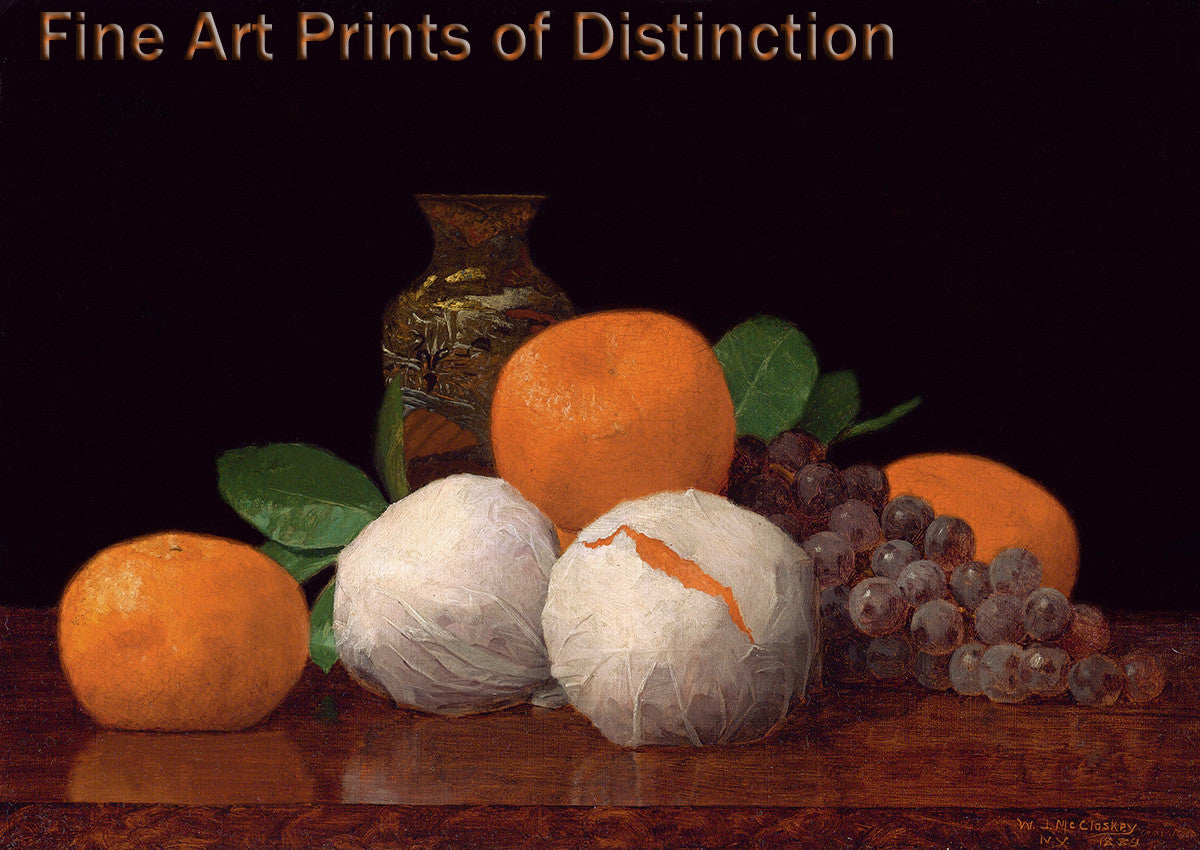 Still Life with Wrapped Tangerines by William J. McCloskey