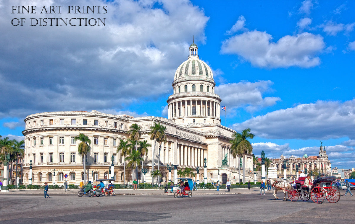 El Capitolio or National Capitol Building in Havana, Cuba Art Print