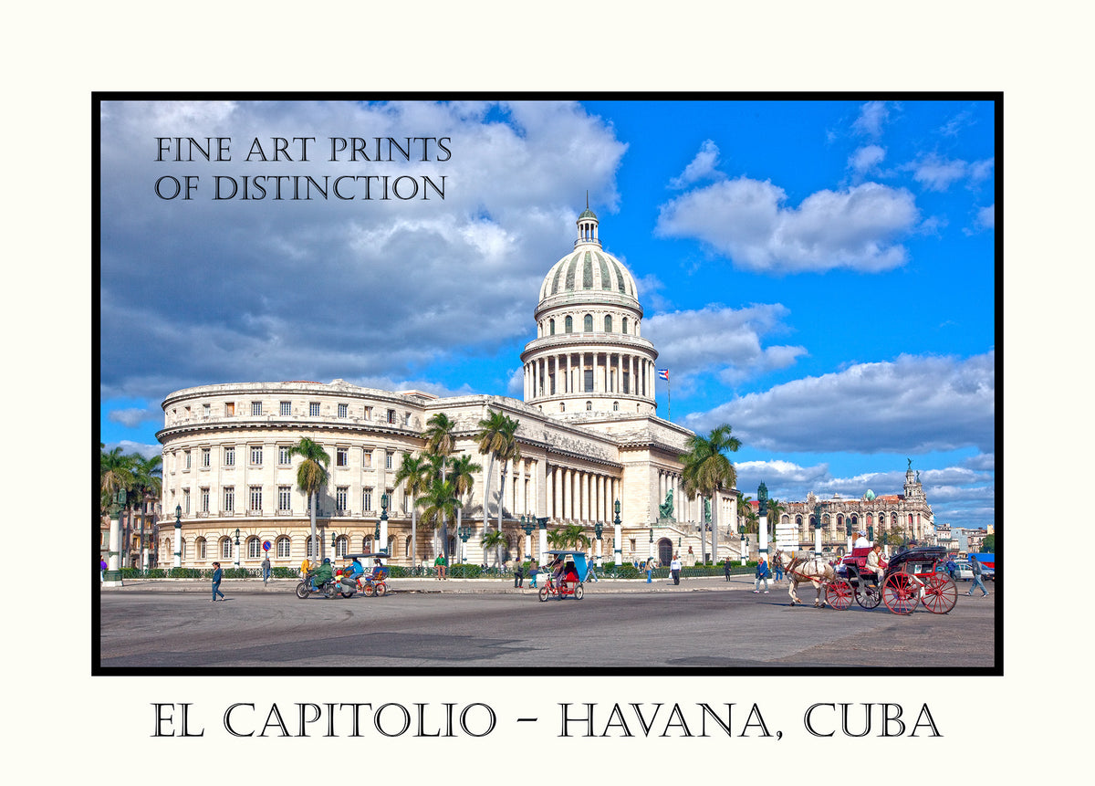 El Capitolio or National Capitol Building in Havana, Cuba Premium Poster