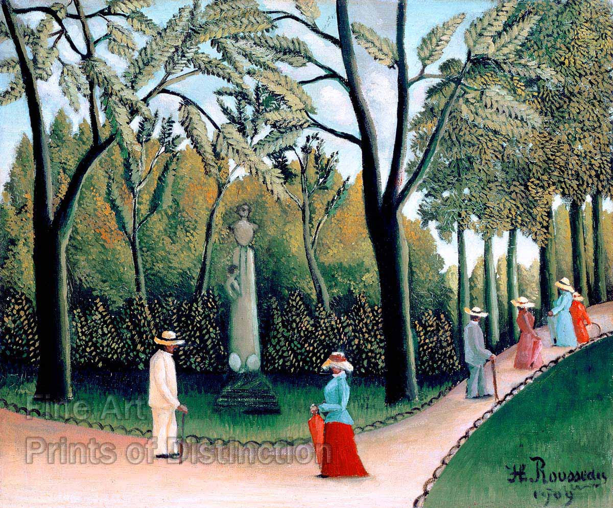 Rousseau, Henri - The Luxembourg Gardens Monument to Shopin
