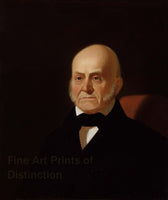 1844 Portrait of John Quincy Adams by George Caleb Bingham