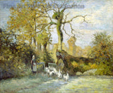 The Goose Girl at Montfoucault (White Frost) by Camille Pissarro