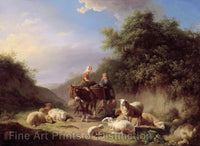 Shepherd and Shepherdess by Eugene Verboeckhoven