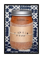 1821 scented primitive pint candle jar by Black Crow