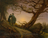 Two Men Contemplating the Moon by Caspar David Friedrich
