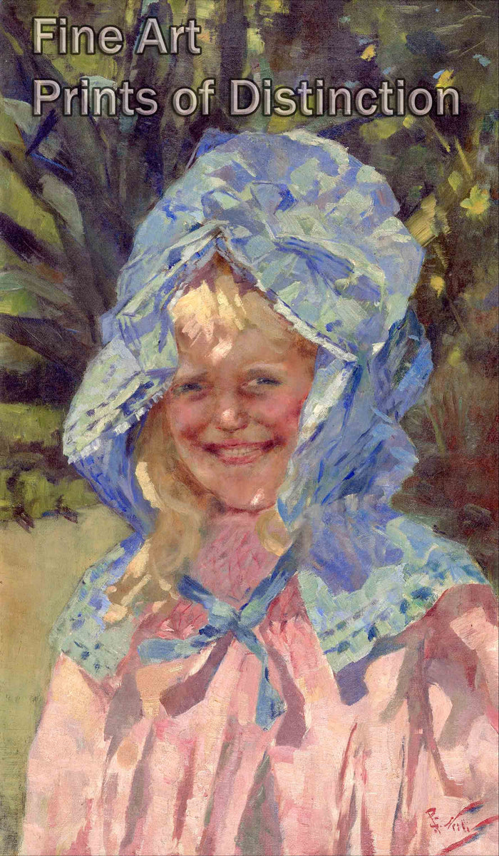 Girl in a Sunbonnet by Girolamo Nerli