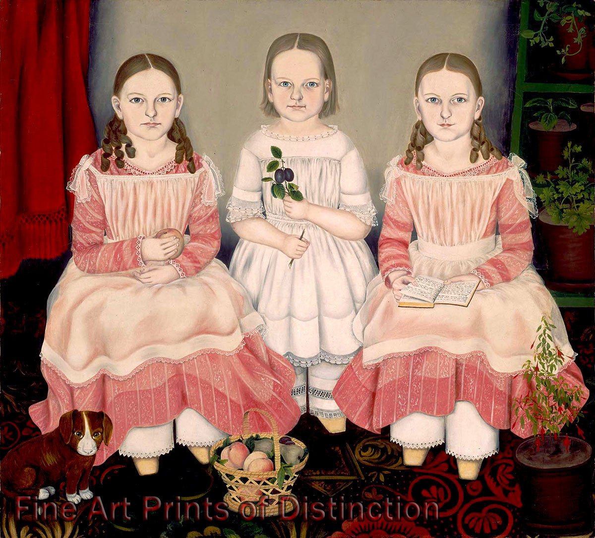 The Lincoln Children by Susan Waters Art Print