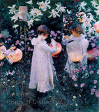 Carnation, Lily, Lily, Rose painted by John Singer Sargent Art Print