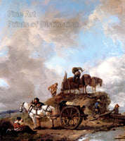 Peasants in the Field A Hay Harvest painted by Philips Wouwerman Art Print