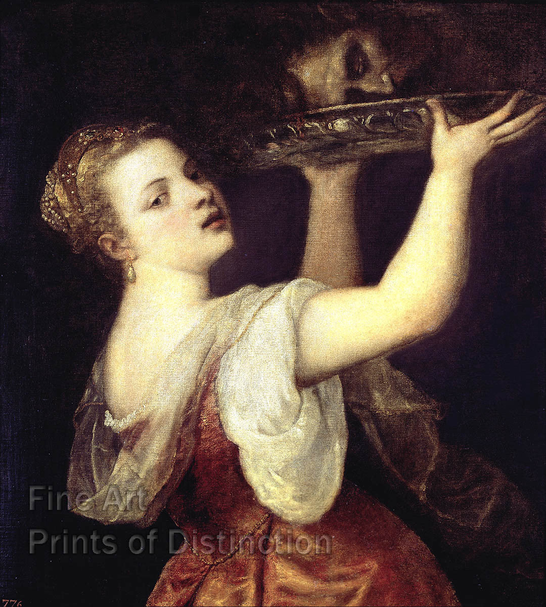 Salome with the Head of John the Baptist painted by Titian Art Print