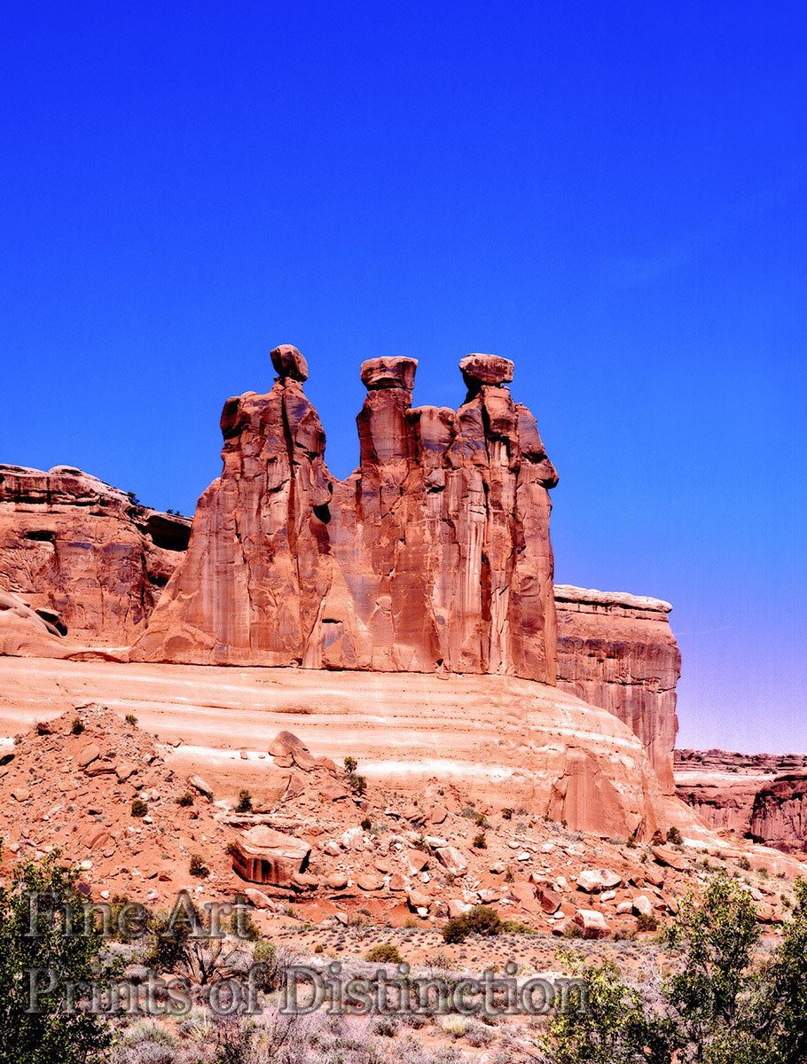 The Three Gossips formation at Arches National Park in Utah