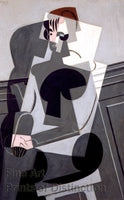 A Portrait of Madame Josette Gris by Juan Gris