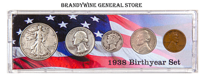 1938 Birth Year Coin Set made with US Minted coins.