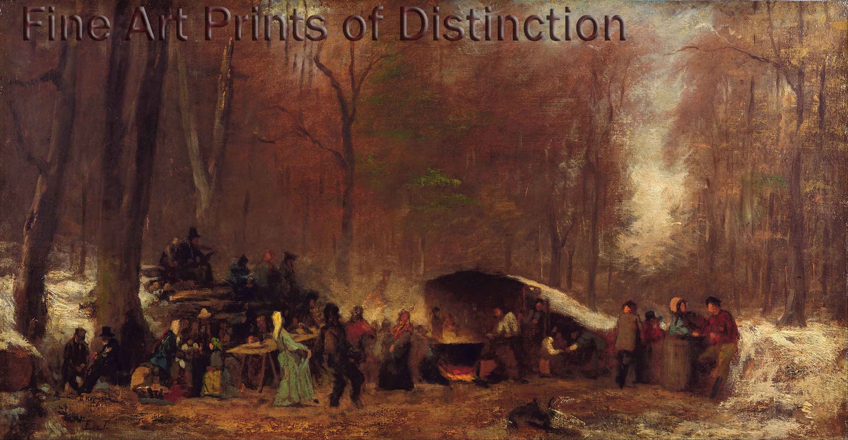 A Different Sugaring Off by Eastman Johnson Art Print