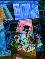 Still Life Before an Open Window, Place Ravegnan by Juan Gris