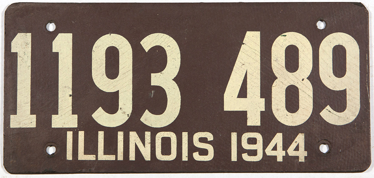 1944 PA Vintage Original License  Plate in good Condition