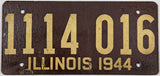 1944 IL passenger car license plate in very good minus condition