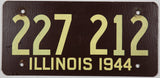 1944 Illinois passenger car license plate