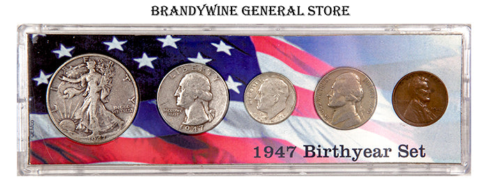 1947 Birth Year Coin Sets made with US issued Coins