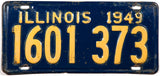 1949 Illinois car license plate in very good minus condition