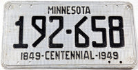 1949 Minnesota License Plate