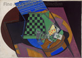 Checkerboard and Playing Cards by Juan Gris