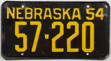 1954 Nebraska car license plate in very good plus condition