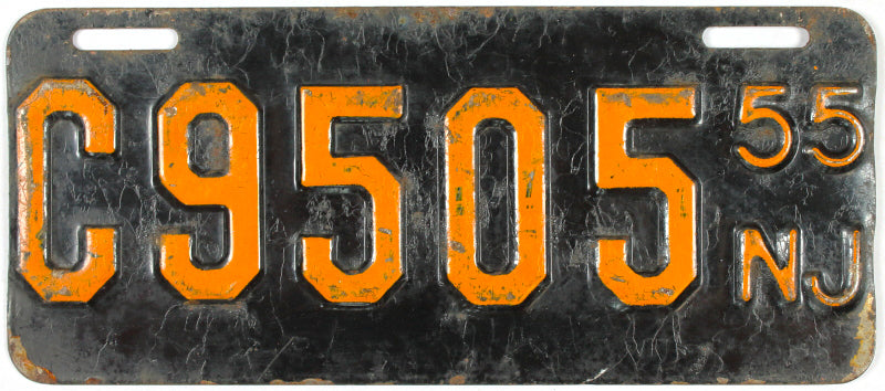 1955 New Jersey Motorcycle License Plate
