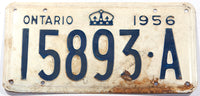 A 1956 Ontario Canada commercial license plate in good plus condition