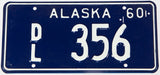 A classic 1960 Alaska delaer license plate in NOS excellent condition with original mailing envelope