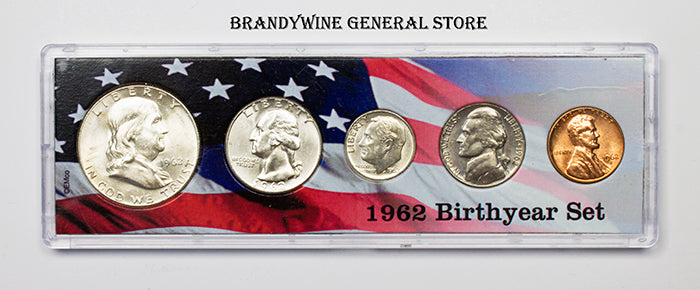 1962 Birth Year Coin Set