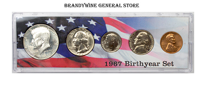 1967 Birth Year Coin Set