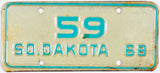 1968 South Dakota Motorcycle Low DMV Number License Plates #59