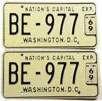 1966 Washington DC Bus License Plates grading Excellent plus