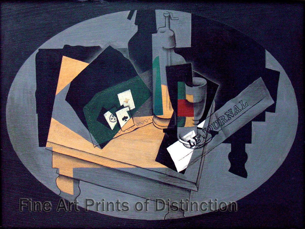 Playing Cards and Sifon by Juan Gris