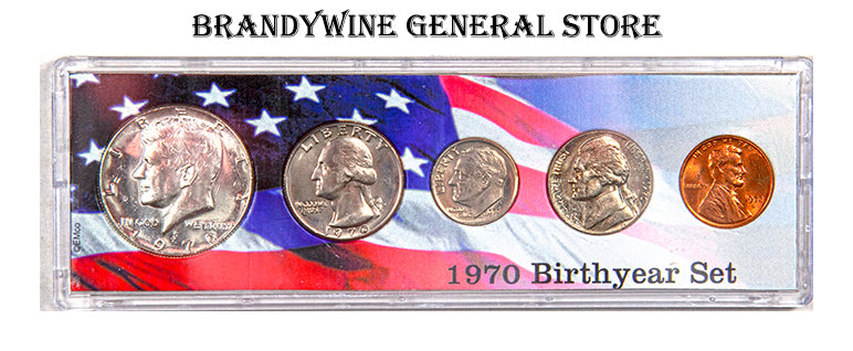 1970 Birth year coin set made from US coinage