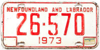 1974 Newfoundland and Labrador License Plate