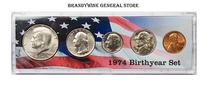 1974 Birth Year Coin Set in uncirculated condition