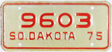 1975 South Dakota Motorcycle License Plate