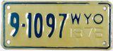 1975 Wyoming Motorcycle License Plate